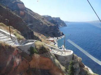 View from lift in Thira